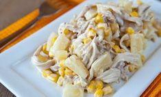 Šalát s kuracím mäsom a ananásom - Báječné recepty