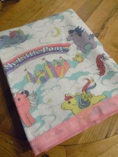 vintage My Little Pony blanket. $25.00, via Etsy.