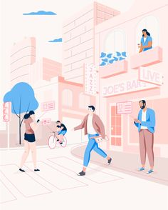 Illustrations for Round NYC app