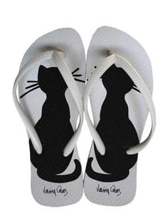 I love cats - paint your FlipFlops