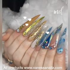 70 Alluring Acrylic Coffin Nails Design Ideas This Summer 76 Dope Nails, Glam Nails, Bling Nails, Fun Nails, Bling Nail Art, Bling Acrylic Nails, Best Acrylic Nails, Rhinestone Nails, Coffin Nails