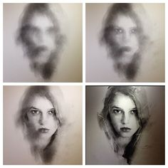 Charcoal evolution by Casey Baugh