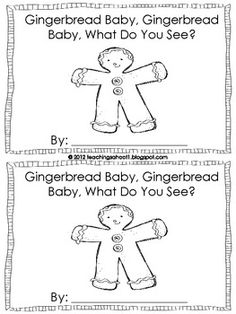 This is my Christmas gift to you! A freebie of my mini-book based on Jan Brett's classic book. It comes in a pack with 5 other mini-books here: h. Gingerbread Man Activities, Gingerbread Men, Speech And Language, Language Arts, Kindergarten Reading, Kindergarten Classroom, Shape Books, January, December Holidays