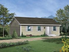 Cabin Ranch House Plan 95981 Elevation