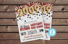 Class of 2009 Reunion Template | High School Reunion, 10 Year Reunion, School Reunion, Class Reunion, Reunion Party, Class of 2009 #ClassOf2009 #HighSchoolReunion #ReunionInvitation #09ClassReunion #2009Invitation #ReunionInvite #SchoolReunion #EditableReunion #ClassReunion #10YearReunion