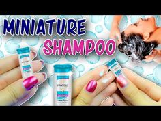 Real Miniature Shampoo Bottle Tutorial ~ Body Care Products for Dolls DIY   No Polymer Clay - YouTube