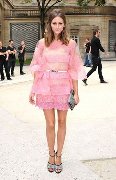 Olivia Palermo  - Celebs at the Valentino Show in Paris