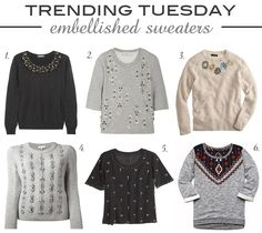 Trending Tuesday | Embellished Sweaters
