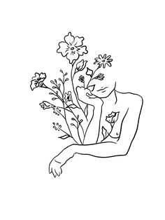Tattoo flower women tatoo 66 Ideas for 2019 Dream Tattoos, Tatoos, Flower Tattoos, Small Tattoos, Tattoo Drawings, Art Drawings, Plant Drawing, Drawing Flowers, Gravure