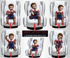 "joannebernice: "" REQUEST PACK TODDLER CAR SEAT POSES This one is requested by la-simmerdad :) HI! :) Anyway i finished them. It only took an hour or so to put these together for you i hope you enjoy them, and other simmers and storytellers might. Sims 4 Game Mods, Sims Mods, Sims Games, Sims 4 Toddler, Toddler Car, Sims 4 Couple Poses, Sims 4 Stories, Sims 4 Family, Sims 4 Pets"
