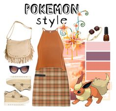 """Pokemon Style - Flareon"" by ana3blue ❤ liked on Polyvore featuring Tory Burch, Glamorous, STELLA McCARTNEY, Cara and Thierry Lasry"