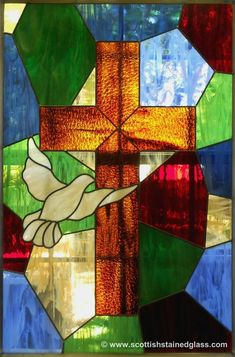 Stained Glass Cross #StainedGlassChurch