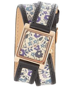 Is there really any way to get Liberty of London to ship to the US? God, I love this watch collection. Liberty Art Fabrics, Liberty Print, Wrap Watches, Watches For Men, Liberty Of London, Print Wrap, Crown Jewels, Love Design, Fashion Watches