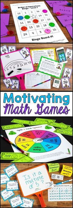 Awesome collection of fun math games that are also highly effective for math practice! Most of these math games work with 3rd grade, 4th grade, and 5th grade students, and many can be adapted for other grades. Perfect for math centers, cooperative learning, or guided math groups. #mathpracticegames