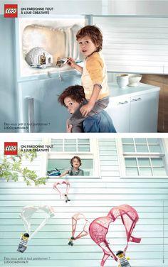 Lego - créativité - par l'agence GreyParis