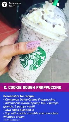 Starbucks Frappuccino, Healthy Starbucks Drinks, Yummy Drinks, Starbucks Secret Menu Items, Starbucks Hacks, Starbucks Secret Menu Drinks, How To Order Starbucks, Smoothie Drinks, Cooking Tips