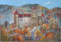 Castle Bran.Romania. Oil on canvas,100*70cm.