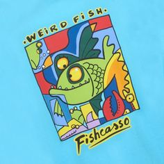 Weird Fish Mens T Shirt Fishcasso Abstract Cyan Picasso