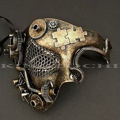 Welcome to the World of Steampunk Imagine a high-tech world where the machines were powered by steam and clockwork mechanisms replaced electronics. Steampunk Costume, Steampunk Diy, Steampunk Clothing, Steampunk Fashion, Steampunk Mask, Victorian Fashion, Masquerade Prom, Venetian Masquerade Masks, Halloween Masquerade