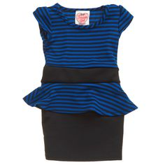Stripe Peplum Dress with Bow Accent (2T-4T) 711188649