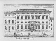 """Palazzo Spinola, via S. Paolo, Milano. Marc'Antonio Dal Re, """"Vedute di Milano"""", incisione 27 (ca. 1745)."""