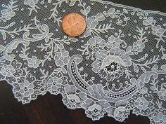 Vintage Antique Brussels Point de Gaze Rosepoint Needle Net Lace Trim | eBay