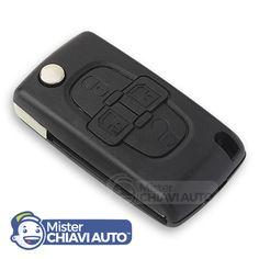Guscio Telecomando Chiave per Peugeot 1007 con 4 tasti