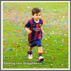 Thiago Messi : Meu pequeno aprontando todas no Camp Nou. | thiagomessi