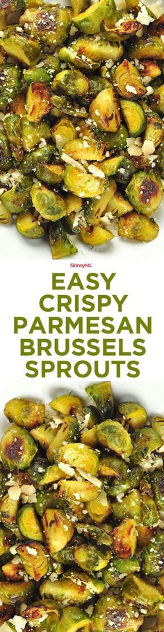 Easy Crispy Parmesan Brussels Sprouts