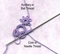 Needle Tatting off Rings from a Split Ring