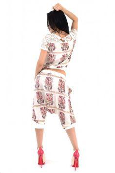 Trening Dama Casual Scurt Bej Cu Imprimeu Deosebit Online Shopping For Women, Capri Pants, Clothes For Women, Casual, Fashion, Outerwear Women, Moda, Capri Trousers, Fashion Styles