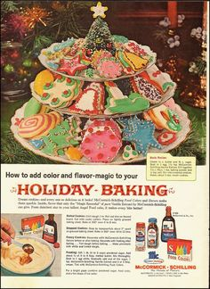 1963 Vintage ad for McCormick`Shilling Spices`Christmas Cookies (050914)
