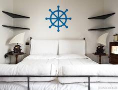Ship's Wheel  Vinyl Wall Art Decal by Jeaniologie on Etsy