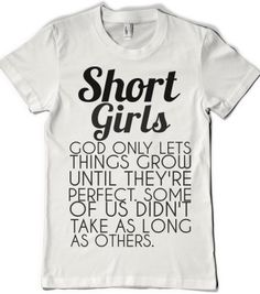 SHORT GIRLS  - glamfoxx.com - Skreened T-shirts, Organic Shirts, Hoodies, Kids Tees, Baby One-Pieces and Tote Bags