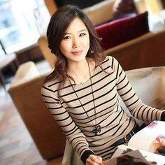 Blusa Listrada Tee Shirt Femme Stripe Long Sleeve Tshirt Women 2016 Cotton T Shirt Causal Womens Tops T-Shirt Camisetas Mujer