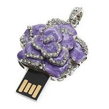 8GB USB 2.0 Rose PurpleMemory Stick Flash Drives Storage U Disk Necklace gift