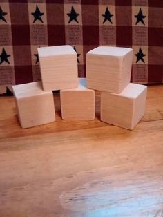 These blocks are x x Handmade. Diy Projects Etsy, Block Craft, Unfinished Wood, Wooden Blocks, Handmade Wooden, Baby Shower Decorations, Primitive, Bridal, Boys