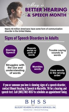May was Better Hearing & Speech Month, learn how you can communicate better by recognizing the early signs of speech disorders in adults.