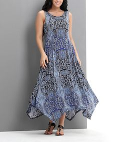 Love this Blue Paisley Handkerchief Maxi Dress - Plus by Reborn Collection on #zulily! #zulilyfinds