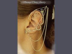 Elven ear cuffs Empire by StrangeThingJewelry on Etsy, $22.00