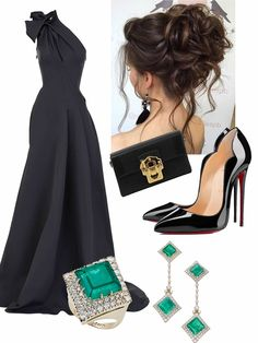 Prom Outfits, Kpop Fashion Outfits, Classy Outfits, Stylish Outfits, Elegant Outfit, Elegant Dresses, Cute Dresses, Evening Attire, Evening Dresses