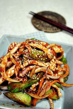 Asian Recipes, Beef Recipes, Cooking Recipes, Healthy Recipes, Healthy Food, Korean Side Dishes, K Food, Daily Meals, Korean Food