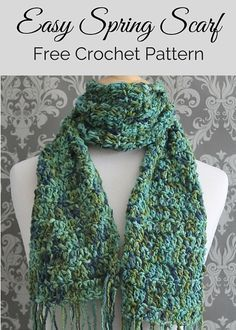 An elegant free crochet scarf pattern that features a pretty cotton yarn. Perfect for warmer seasons, and looks great with blue jeans or dressy attire. Crochet Scarves, Crochet Shawl, Crochet Clothes, Free Crochet, Knitting Designs, Knitting Patterns Free, Scarf Patterns, Free Pattern, Crochet With Cotton Yarn