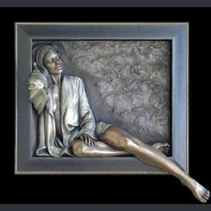 Imagination by Bill Mack is a bronze alto-relief sculpture of a lady relaxing to one side of the frame. Prune Nourry, Psalm 6, Hermann Hesse, Bronze Sculpture, Beautiful Artwork, Art History, Buy Art, Fantasy Art, Contemporary Art