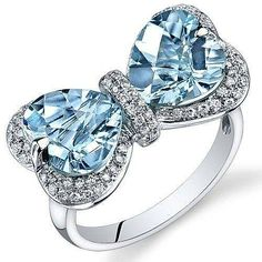 #Silver #BlueTopaz #Bow #Rings #jewellery