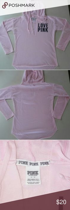 Vs pink pullover hoodie Vs pink hoodie. Light pink size small. EUC PINK Tops Sweatshirts & Hoodies