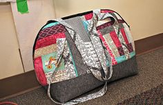 A finished Aeroplane bag ... love the design and the use of fabric scraps