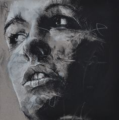 When Denning works on his paintings and drawings he says that he does so indoors with miserable music, which could explain why his pieces show so much emotion.
