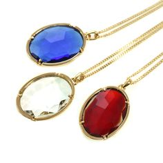 """Brighten up your wardrobe with this reflective necklace and pendant.Length: 30"""" with 2"""" ext. Pendant: 1.25"""" Gold-plated.  #MORANA http://moranaonline.com/NECKLACES?product_id=184#sthash.Ey4XiKU7.dpuf"""