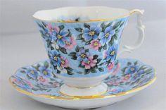 """Royal Albert Garden Party Series """"Blue Bouquet"""" #chintz"""